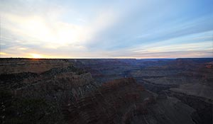 Grand Canyon meridionale al tramonto